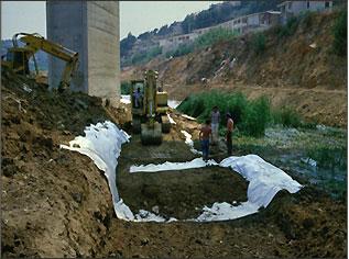 Geosiderservizi rimini enkadrain rimini geotessili geogriglie sitemi di rinforzo per l - Telo tessuto non tessuto giardino ...